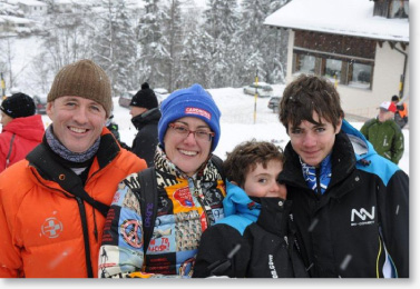 henry family in Switzerland for Alpine training camp